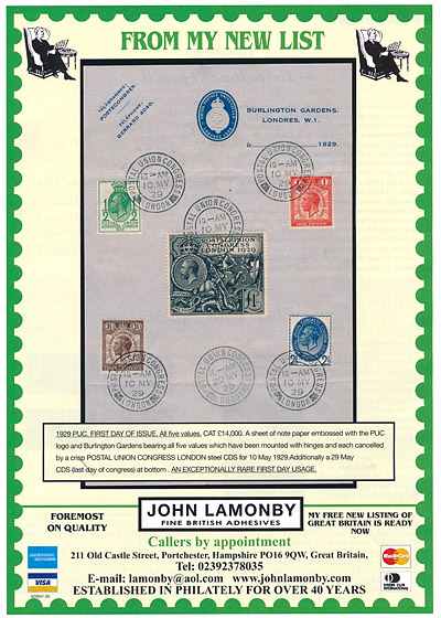 John Lamonby British Stamp Dealer